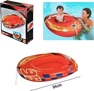 ALLPER Bote Hinchable de Cars, Color Rojo, 94 cm. para Playa y ...
