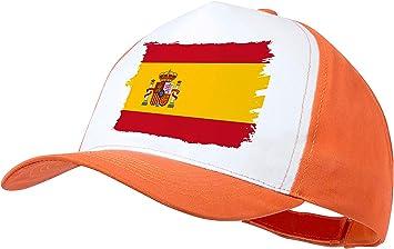 MERCHANDMANIA Gorra Naranja Bandera ESPAÑA Pais Unido Color Cap: Amazon.es: Deportes y aire libre