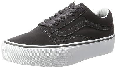 f1f9ea085bd081 Vans Women s Old Skool Platform Lace-Up Sneakers Grey(Asphalt True White(Suede))  3.5 UK  Buy Online at Low Prices in India - Amazon.in