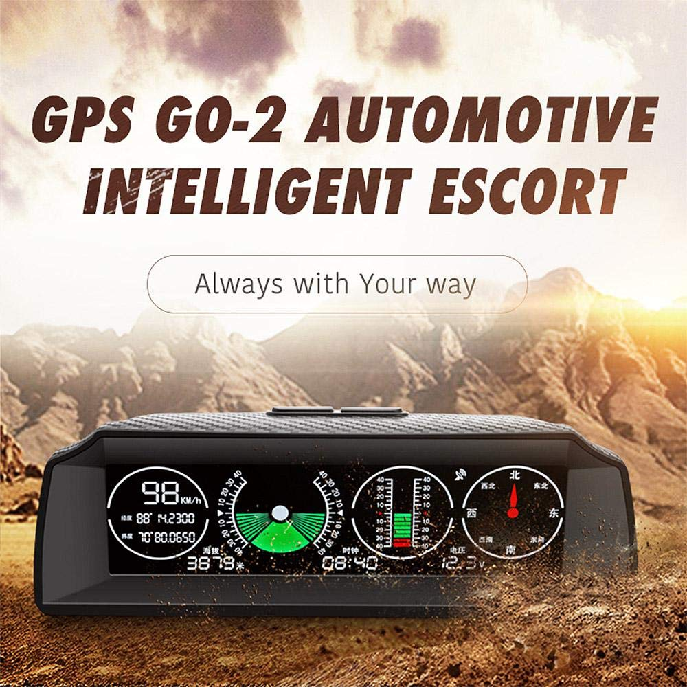 MOGOI X90 Smart GPS Slope Meter, Car Inclinometer Level Tilt Gauge with HD LCD Car Head Display,Digital Inclinometer Car Angle Slope Meter with Compass and GPS for Car/SUV/RV/Truck/Trailer by MOGOI
