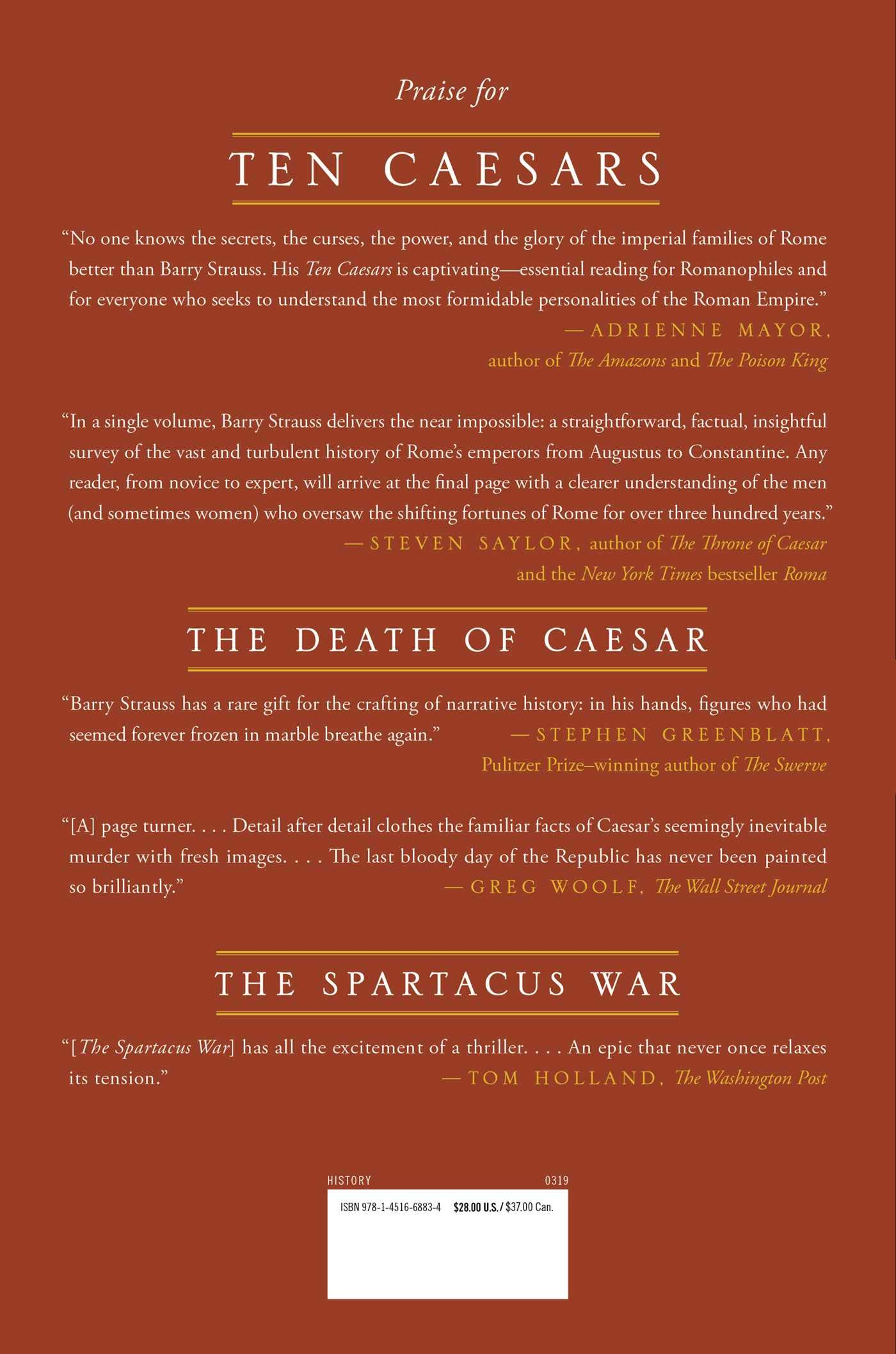Amazon com: Ten Caesars: Roman Emperors from Augustus to
