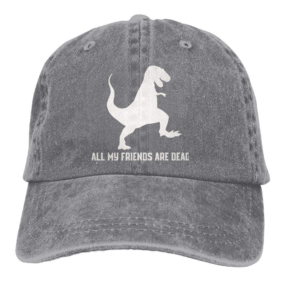 wuhgjkuo All My Friends are Dead Dinosaur Dad Hat Trucker Hat Adjustable Baseball Cap