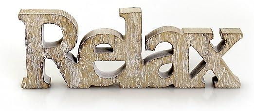 OSTERN Holzaufsteller natur braun Holz Deko Schrift Buchstaben Schriftzug
