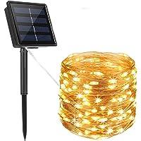 TTKY Guirnalda Luces Exterior Solar, Luces Solares Guirnaldas 12 metros 100 LED con 8 Modos de Luz Decoración para…
