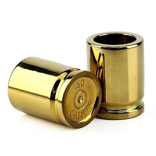 Barbuzzo 50 Caliber Bullet Shot Glasses (Set Of 2)