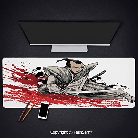 Amazon.com : Extended Large Mouse Pad Warrior Holding A ...