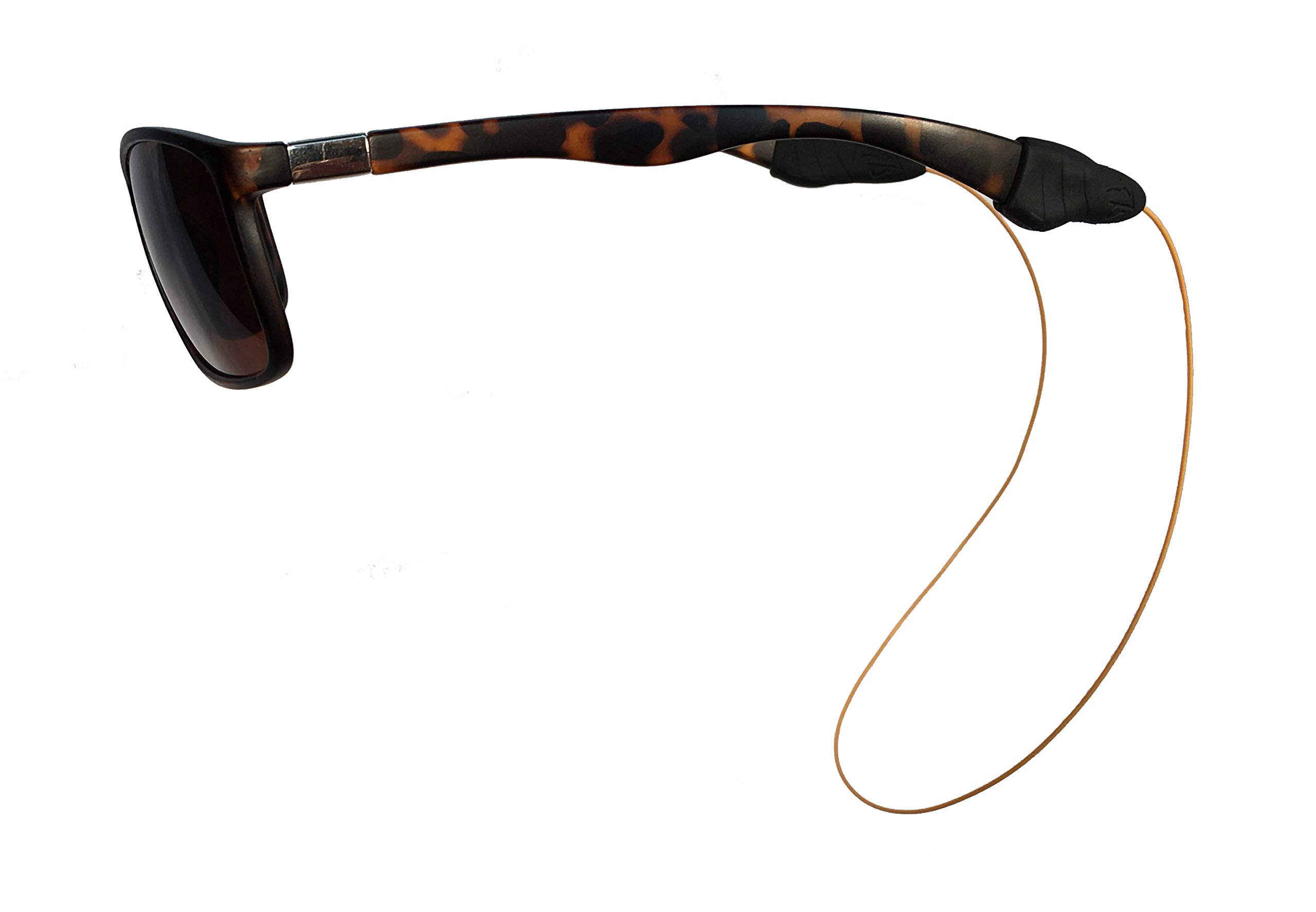 Fly Ties - Fly Fishing Line Sunglass Retainer/Strap - Light Weight, Waterproof, Multiply Color and Size Options (Small, Burnt Orange)