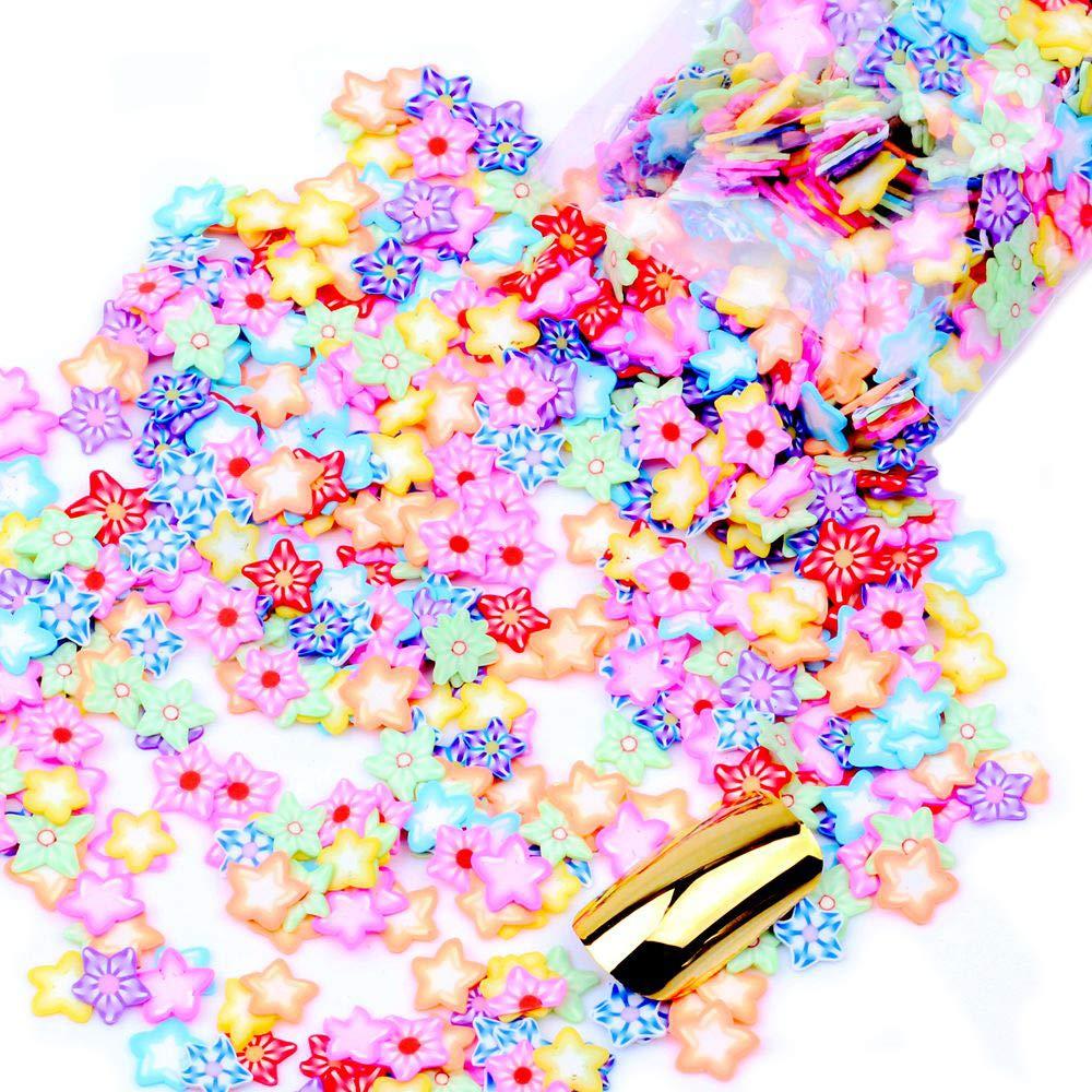 1000pcs/pack 12g 3D Nails Art Fruit Flower Animal Polymer Clay DIY Slice Decoration Nail Sticker 16 Kinds of Options NIZI