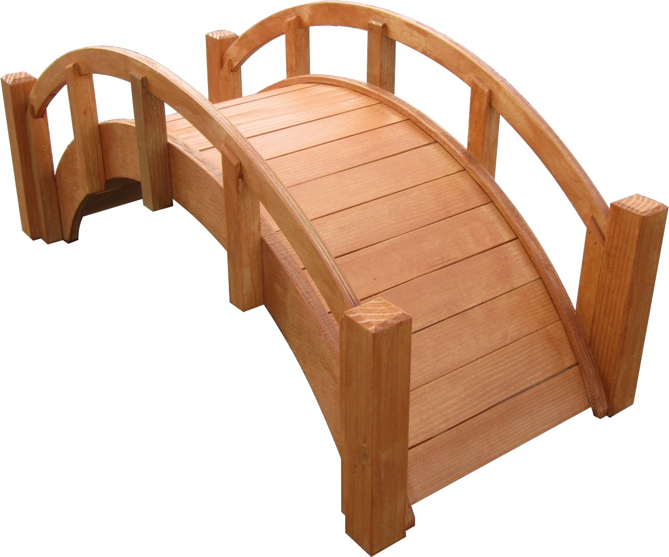 SamsGazebos Miniature Japanese Wood Garden Bridge, 25'' L, Watersealed, Assembled by SamsGazebosTM
