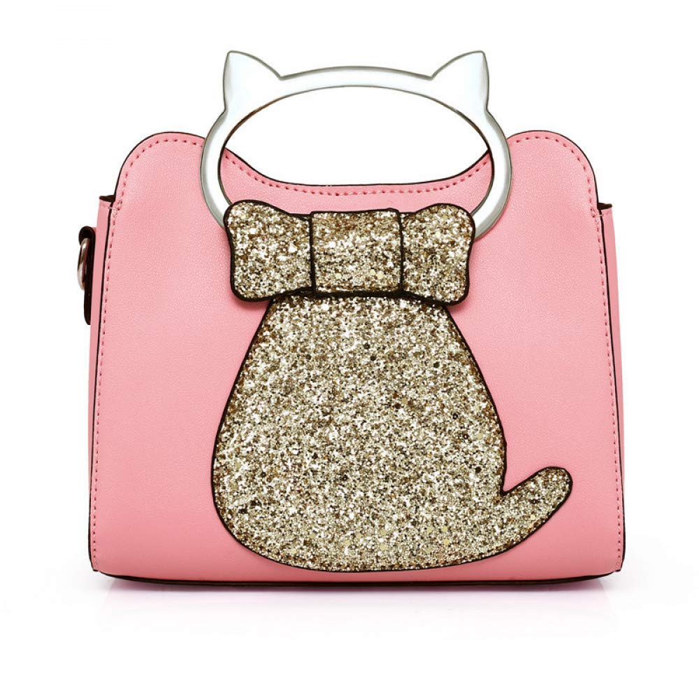 3178c1f247a Amazon.com: GMYANDJB Cute Cat Shaped Totes Sequins Handbags Women ...