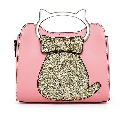 d576b6f95561 Amazon.com  GMYANDJB Cute Cat Shaped Totes Sequins Handbags Women ...