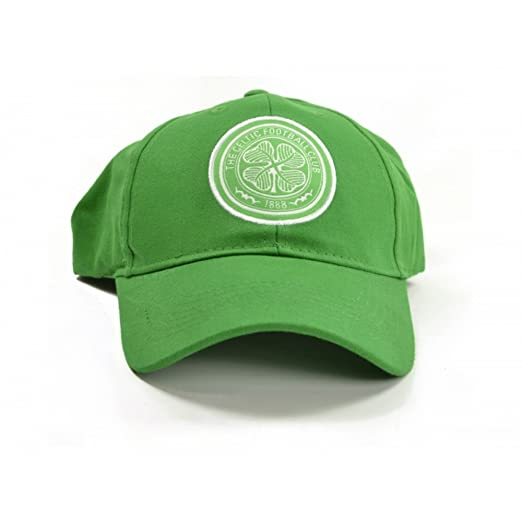 Amazon.com  Celtic FC Official Soccer Crest Baseball Cap (One Size)  (Green White)  Clothing 0cb26498f