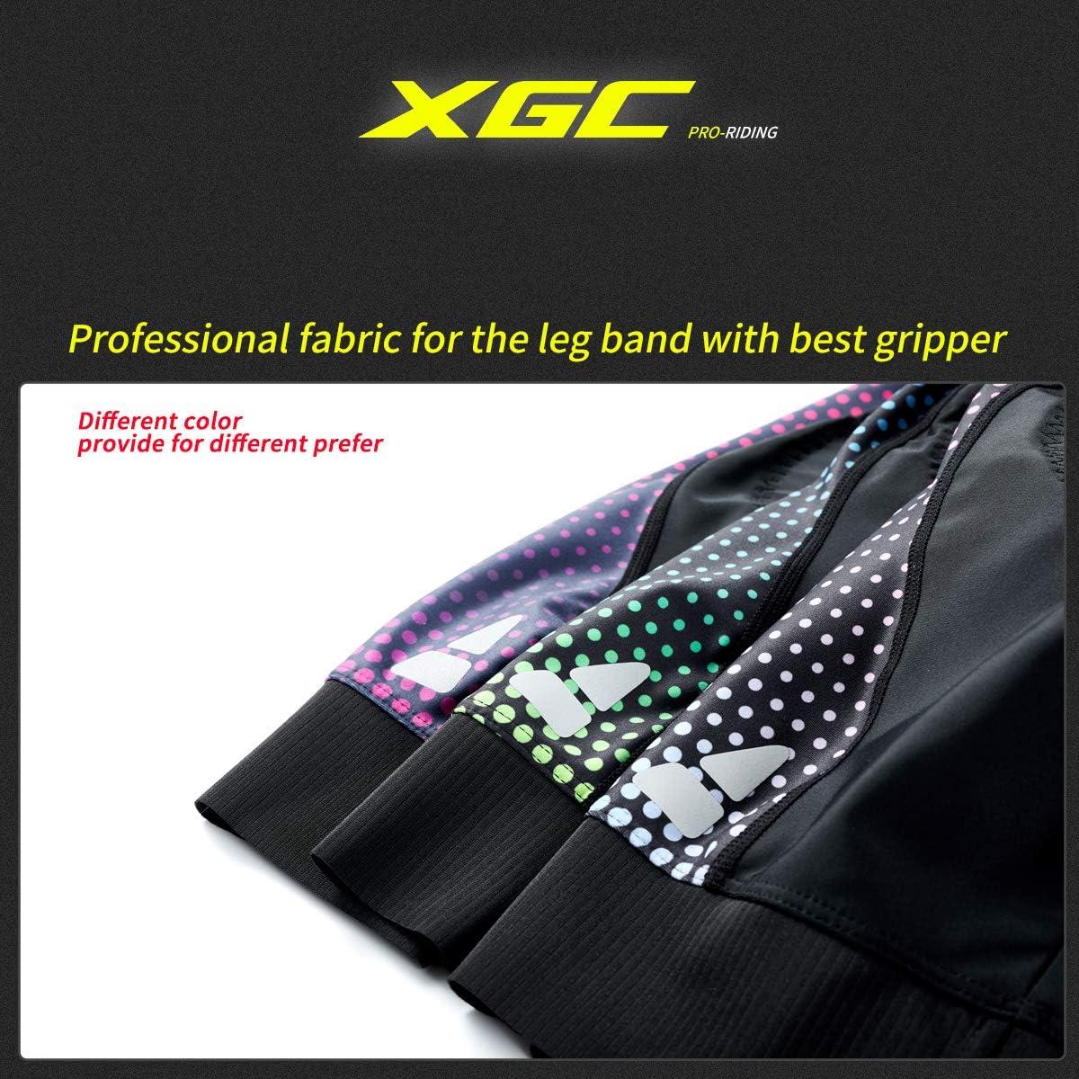 XGC Short de cyclisme pour femme /à s/échage rapide avec rembourrage en /éponge 4D