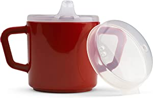 Two Handle 8oz Mug Adaptive Small Sippy Cup for Elderly, Disabled, and Therapeutic Use - PSC53 Dishwasher Safe, Latex and BPA Free