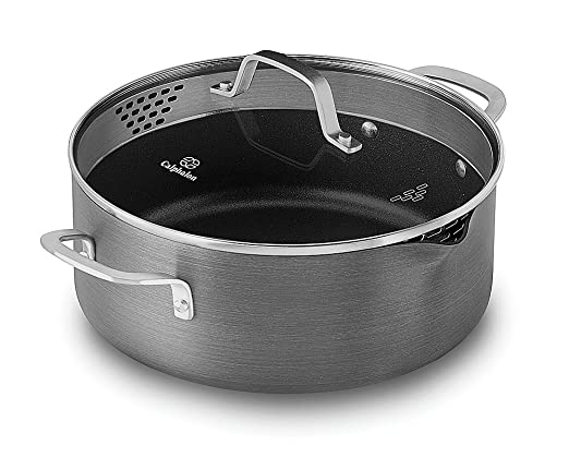 Calphalon Classic Nonstick Dutch Oven with Cover, 5 quart, Grey