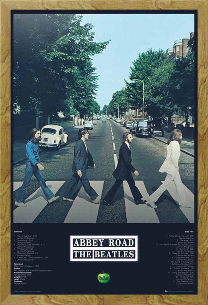 Beatles, The - Abbey Road Tracks - Musikposter Foto Classics ...