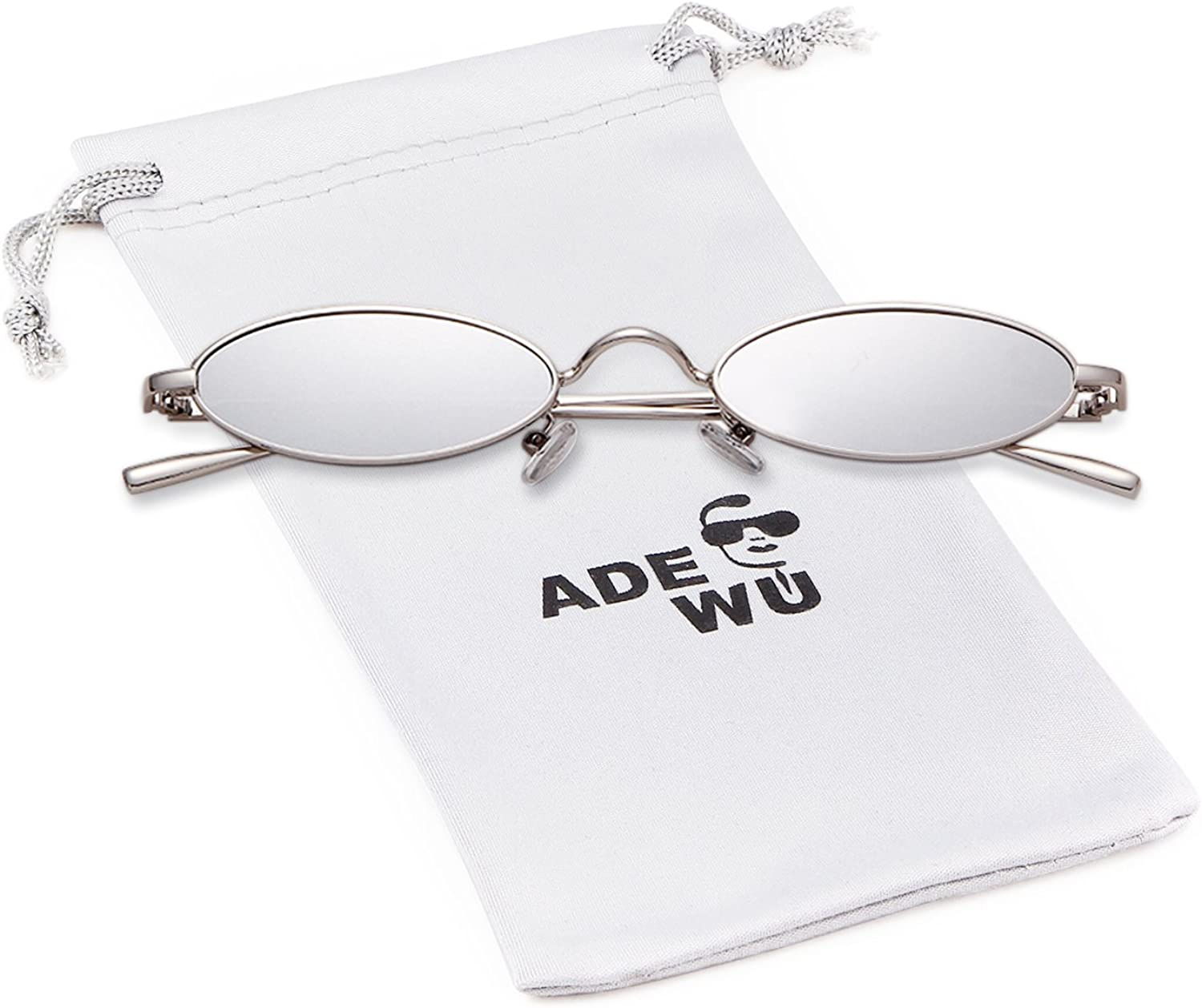Steampunk small Oval Sunglasses For Unisex Metal Frame Chic Lens Glasses