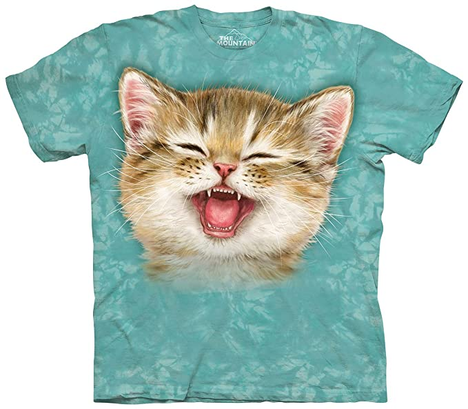 e4a6b855 The Mountain Kitty Cat Expressions And Faces T-Shirt (LOL Cat, Medium)