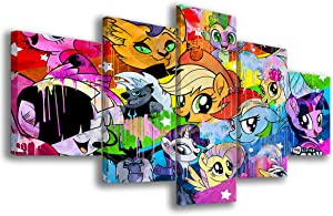 5 Pieces My Little Pony – Cartoon Poster Walls Arts Canvas HD Printed Painting Home Decor Arts Fashion Gifts Frameless