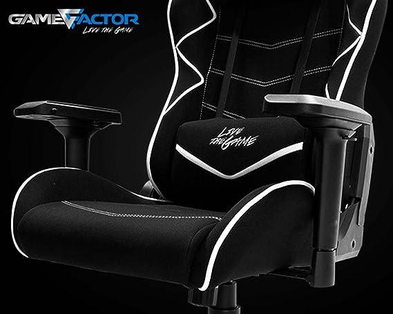 Chair Game Factor 600 Negroblanco Gamer Silla Cgc600 FJcTl1K3