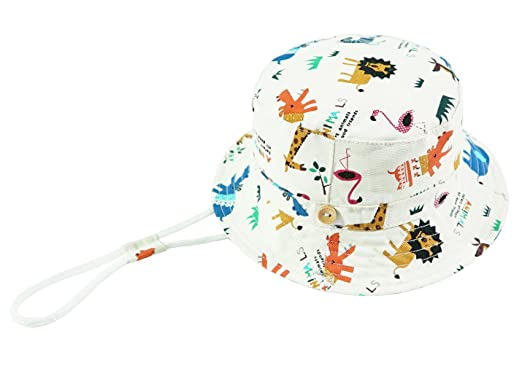 6cd5179f89eda ERISO Toddler Dinosaur Hat Sun Protection Animal Bucket with Chin Strap  (2-4 Years