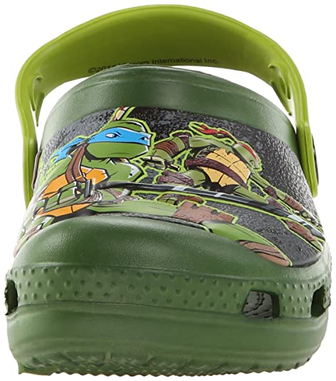 dbe4ca4c9ff Amazon.com | crocs CC TMNT Clog (Toddler/Little Kid/Big Kid), Seaweed/Volt  Green, 4 M US Toddler | Clogs & Mules