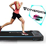 CITYSPORTS Treadmill 440W Motor, Electric Walking Machine Bluetooth Built-in Speakers, Adjustable Speed, LCD Screen & Calorie