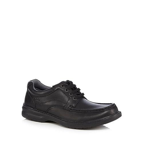 9b811e32bc490 Clarks Kids Black Leather  Keeler  Lace Up Shoes 6  Amazon.co.uk  Shoes    Bags