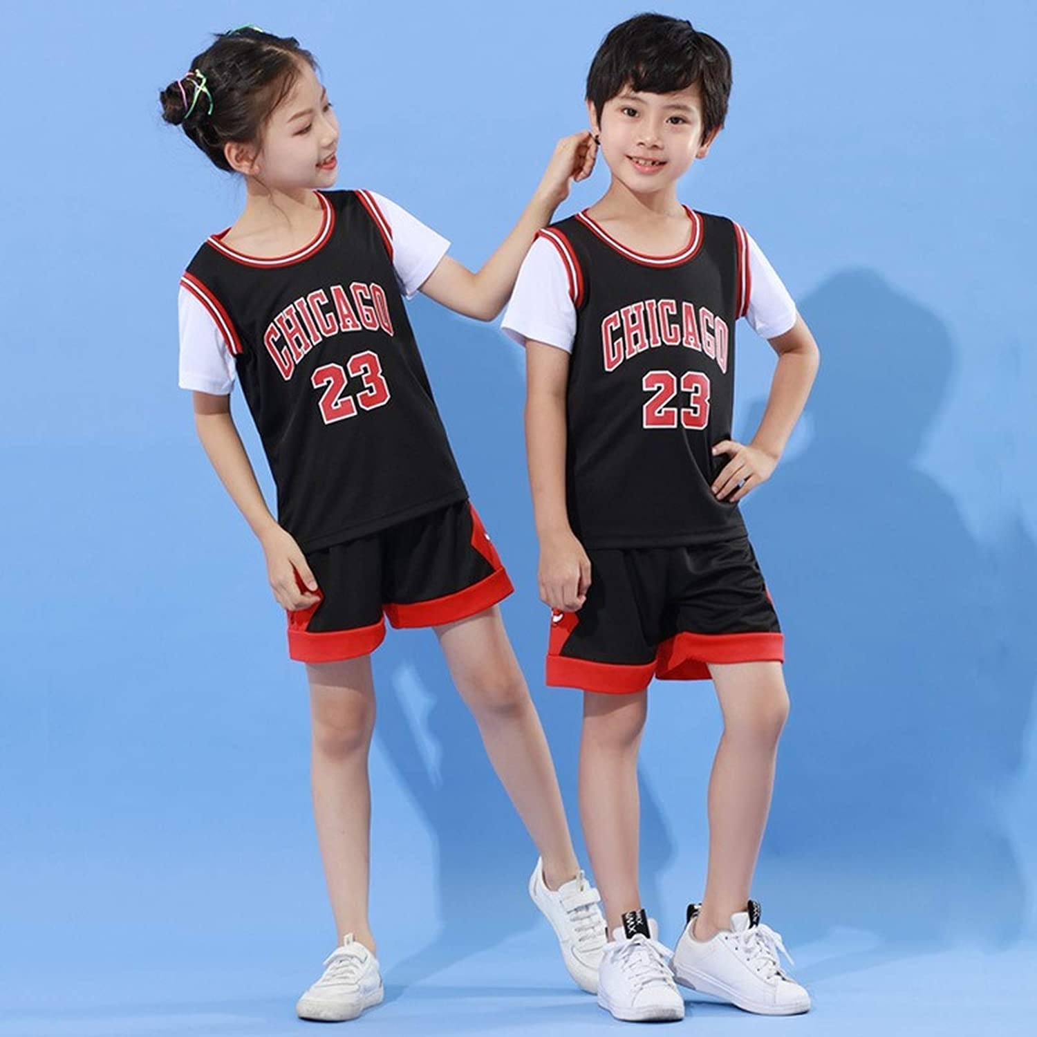 Aelstores Boys Basketball Summer Shorts Girls Top Vest Kit Set Size Age 2-14 Years BNWT