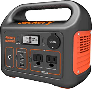 Jackery Portable Power Station Explorer 300, 293Wh Backup Lithium Battery, 110V/300W Pure Sine Wave AC Outlet, Solar Generator (Solar Panel Not Included) for Outdoors Camping Travel Hunting