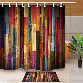 Amazon.com: NYMB Cortina de ducha, tela de poliéster ...