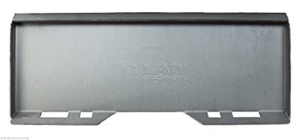 Titan Attachments 5/16 Mount Plate Attachment for Skid Steer Bobcat and  Kubota Tractors