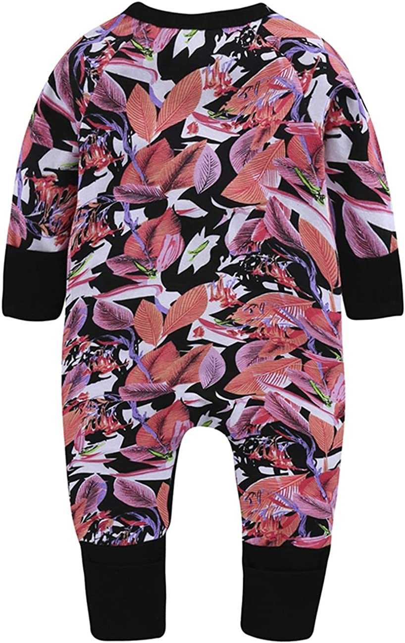 SERAPHY Unisex Baby Clothes Baby 100/% Cotton One-Piece Rompers Breathable Jumpsuits Long Sleeve Bodysuits for Newborn Baby
