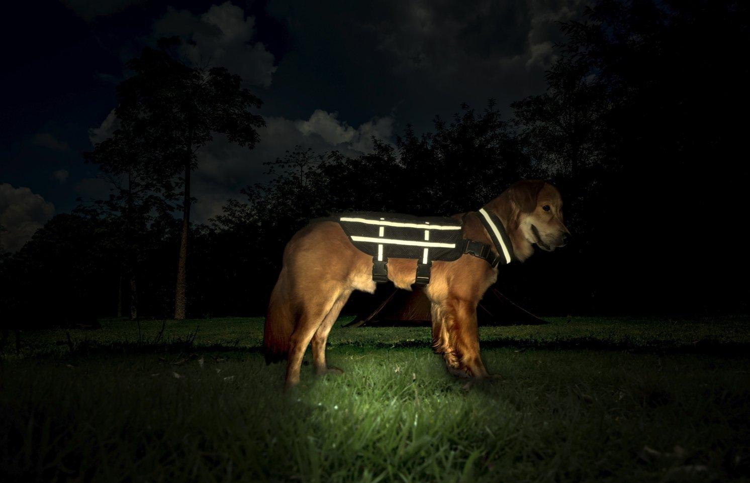 1T Gear OneTigris Leicht Hundeweste Taktische K-9 Mesh Atmungsaktiv Harness MOLLE Hunde Geschirr Verstellbar Hundeausbildung Geschirr für Training,Walking Walking (L Wolf Braun)
