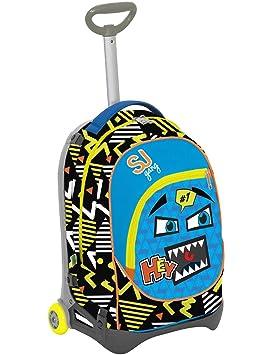 Seven S.P.A. Mochila con carrito para niños Jack Junior – SJ con emoticono – Azul,