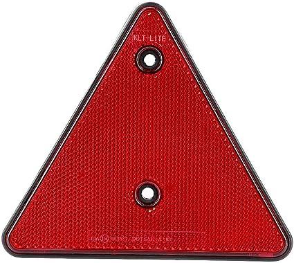 Dreieck Rückstrahler Sicherheit Roter Reflektor Des Hinteren Dreiecks Anschrauben Für Rv Trucks Trailers Gatepost Boot Auto Auto