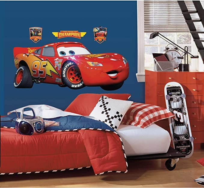 DISNEY CARS LARGE WALL STICKERS NEW ROOM DECOR