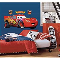 RoomMates Disney Pixar Cars Lightening Mcqueen Peel and Stick Giant Wall Decal - RMK1518GM