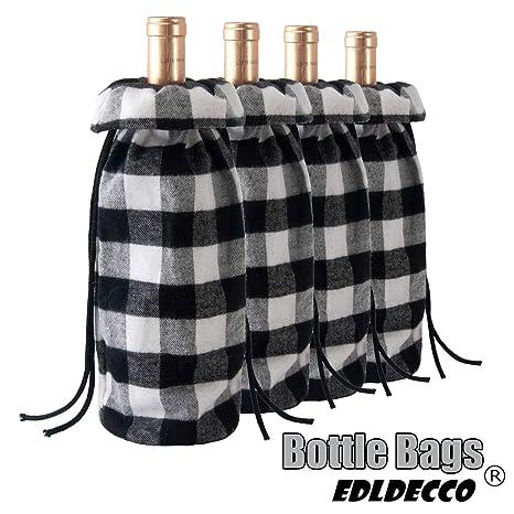 Amazon.com: EDLDECCO - Bolsa de vino, diseño de botella ...