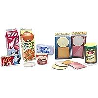 Melissa & Doug Fridge Groceries Play Food Cartons (8 pcs) - Toy Kitchen Accessories