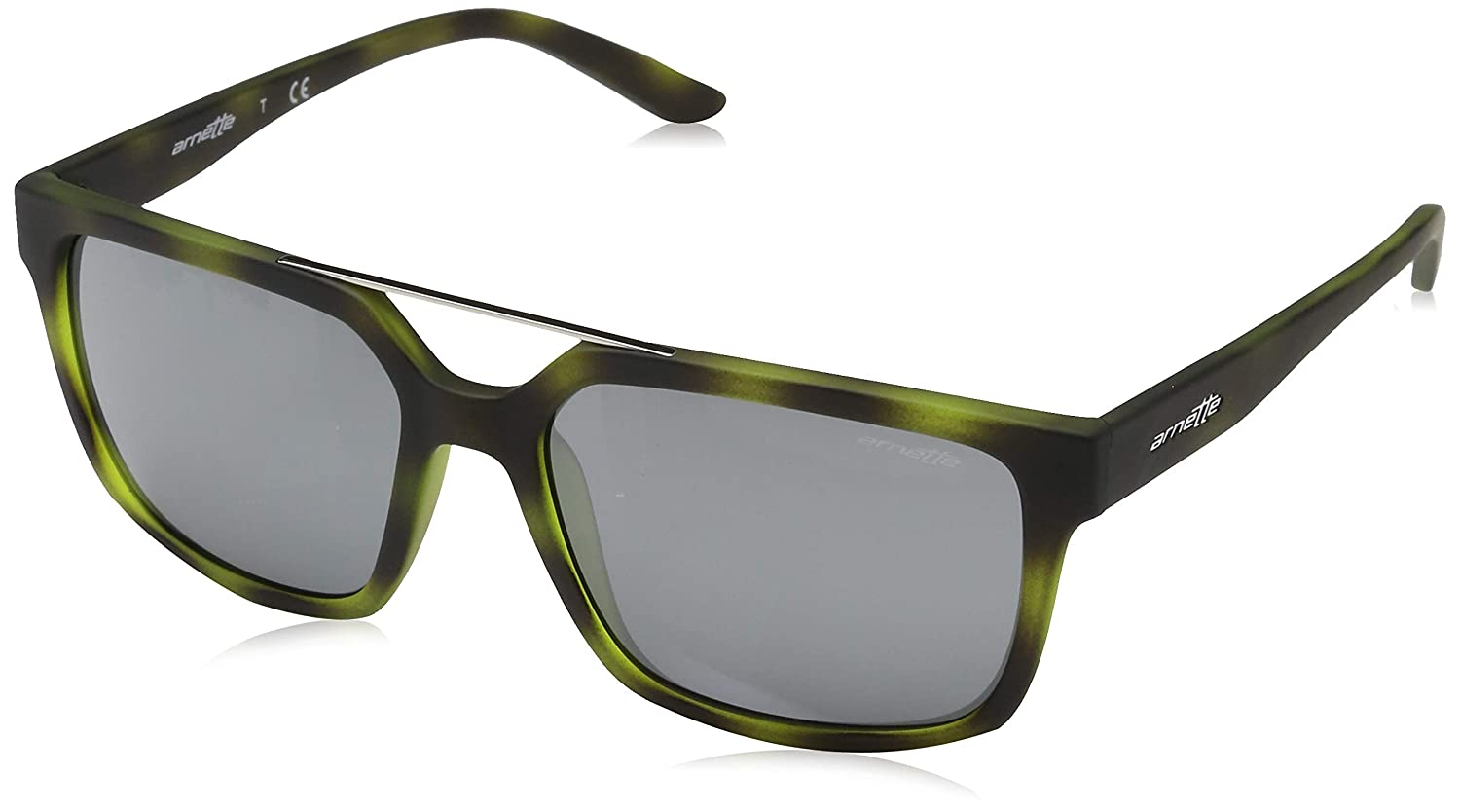Arnette Men's Mirrored AN4231-24286G-57 Green Square Sunglasses   B01LZEUS06
