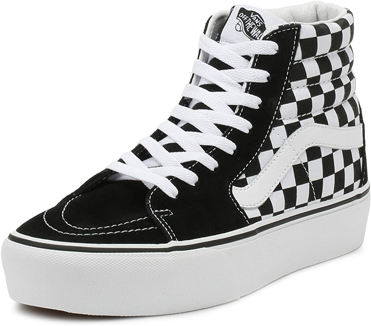 vans platform checkerboard