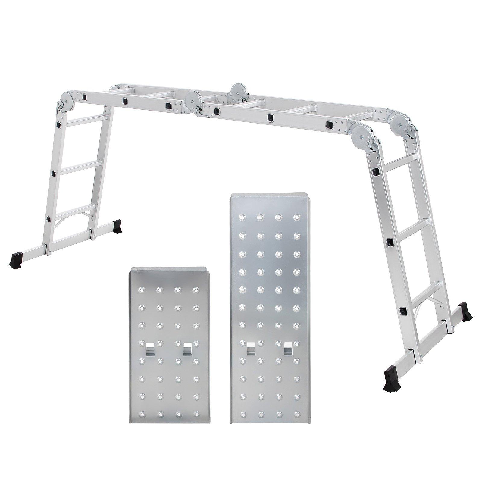 SONGMICS Echelle Aluminium Pliante Multifonction avec 2 panneaux Résistant à 150 kg Conforme aux normes EN131 et testé par TÜV Rheinland GS GLT36M product image