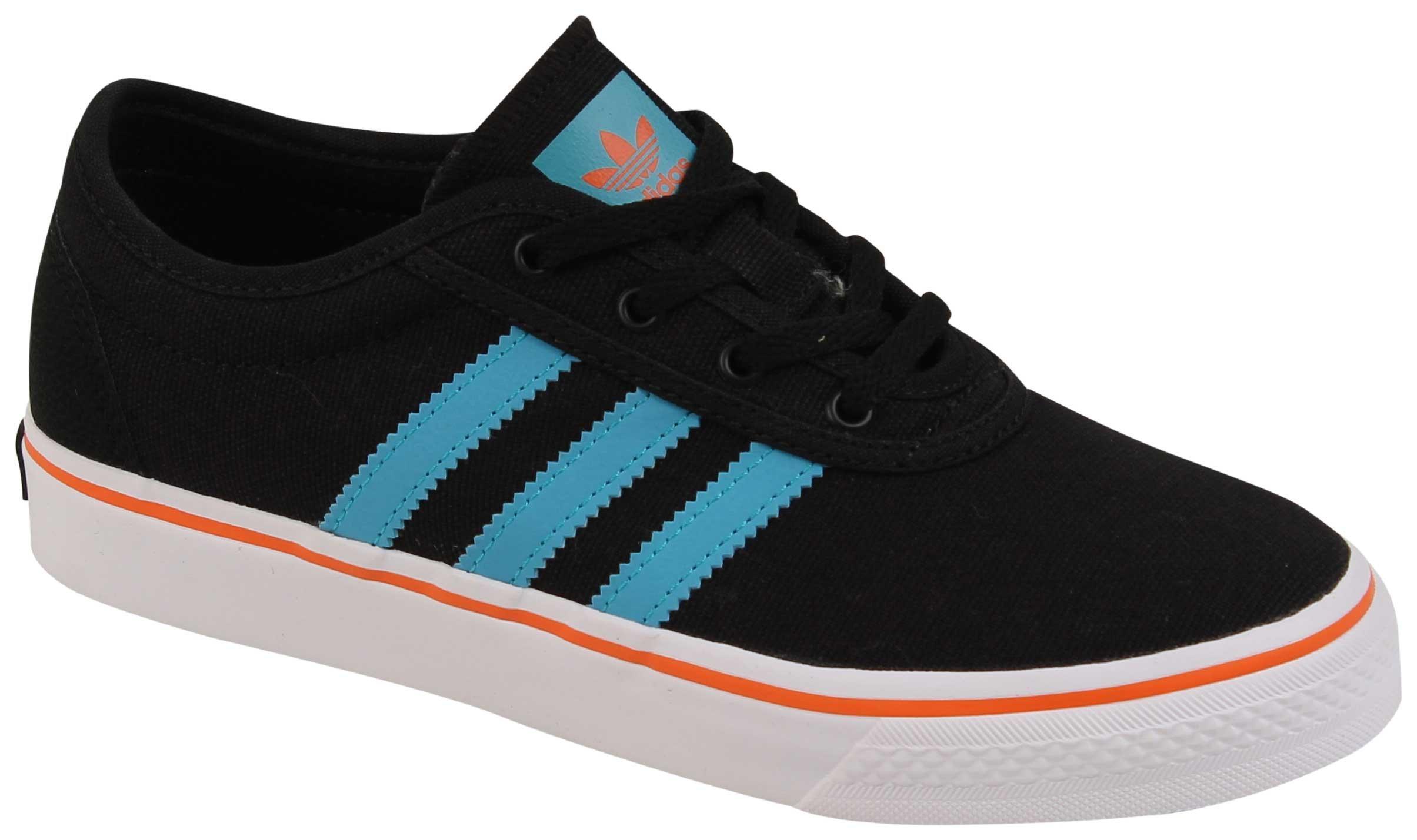 adidas Skateboarding Unisex Adi-Ease J (Little Kid/Big Kid) Core Black/Energy Blue/Energy Blue Athletic Shoe