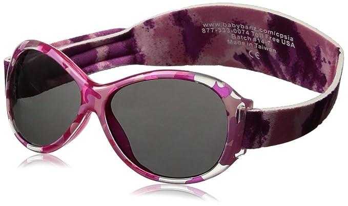 Baby Banz 01091 Sonnenbrille Retro Kidz mit elastischem Neoprenband, für Kopfumfang 40-52 cm (circa bis 2 jahre), UV400, rosa