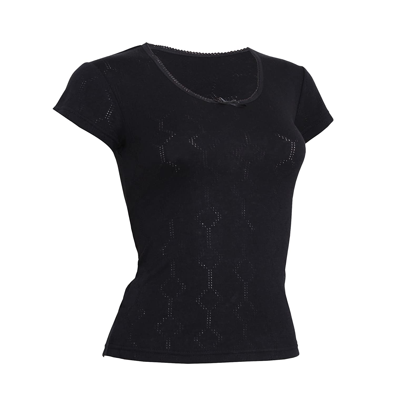 FLOSO® Damen Thermo Unterhemd, kurzärmlig