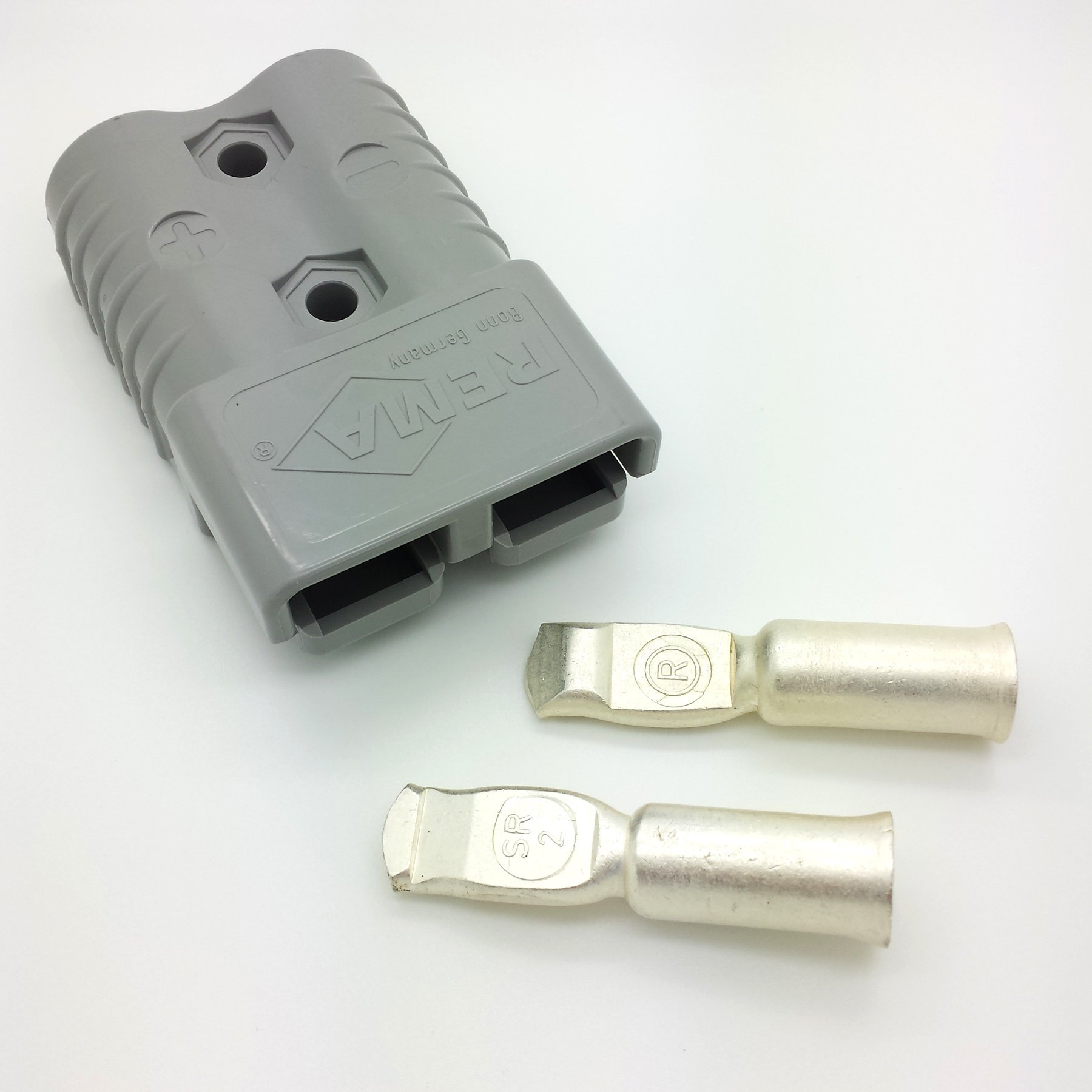 175 Amp grey 36V connector with AWG 2 contacts, Max. 600V/175A, Sold by OEM Xpress