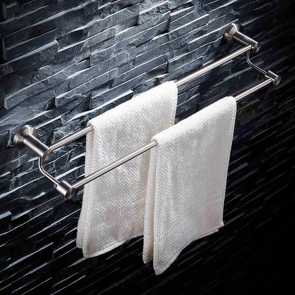 タオルバー バスルームタオルラックステンレススチールタオルラック304ステンレス鋼線図面ダブルタオルラックバスルームミシンタオルバー ( サイズ さいず : 40 cm 40 cm ) B07CKKNPQY 40 cm 40 cm 40 cm 40 cm