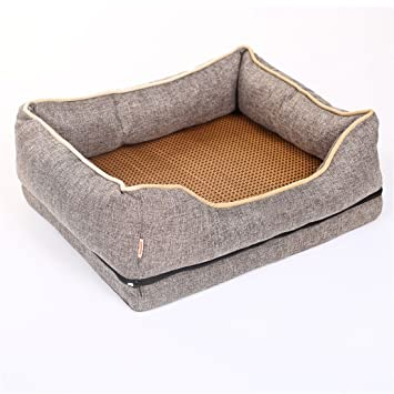 STAZSX Perrera para Perros Golden Hair Bomei Pequeño Perro Grande Lavable Mascota Cama Perro Gato Suministros Sala de Entrega Mat, S: 60X50CM: Amazon.es: ...