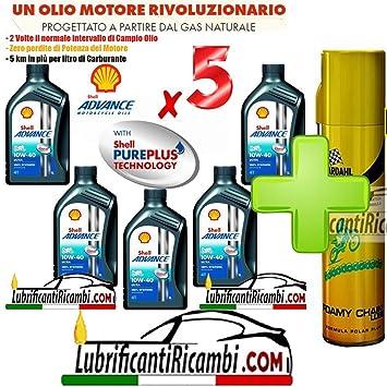 oferta Shell Advance Ultra 4T 10W40 smma 2-5 L-nueva fórmula PUREPLUS